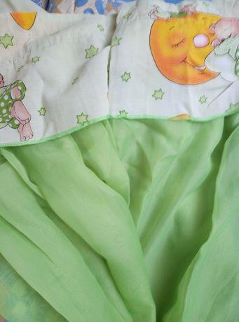 Балдахин, матрас и защита в детскую кроватку