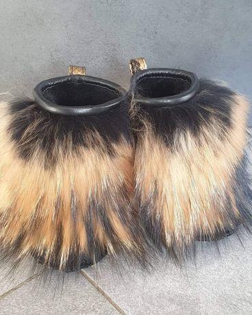 Eleganckie buciki dla dzieci niechodki skóra naturalna