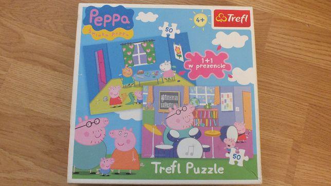 puzzle 2x50 elementów Świnka Peppa Trefl