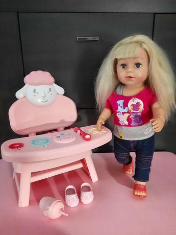 Baby Born siostrzyczka 43cm, krzesełko Baby Annabell