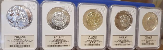 Sprzrdam zestsw monet 20 zł. Historia Monety Polskiej