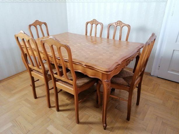 ludwikowski stół i 6 krzeseł