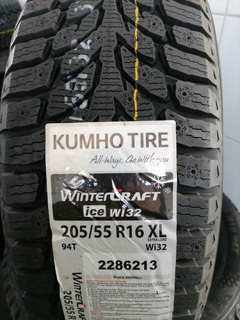 ШИНИ KUMHO WinterCraft ICE WI 32  205\55R16  нові зимові