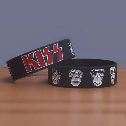 Kiss - Bransoletka, opaska silikonowa