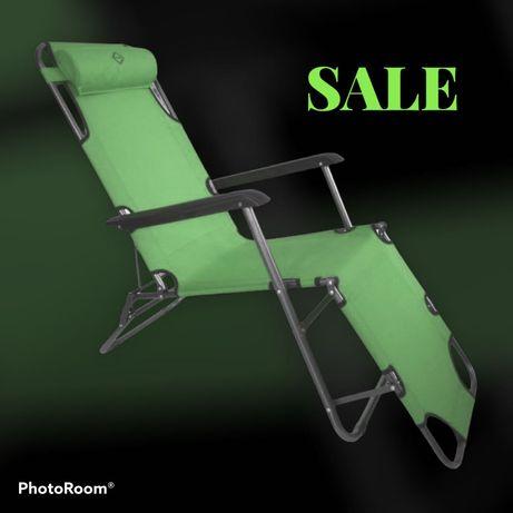 АКЦИЯ* Шезлонг лежак кресло 3-х позиционное 160/180 см