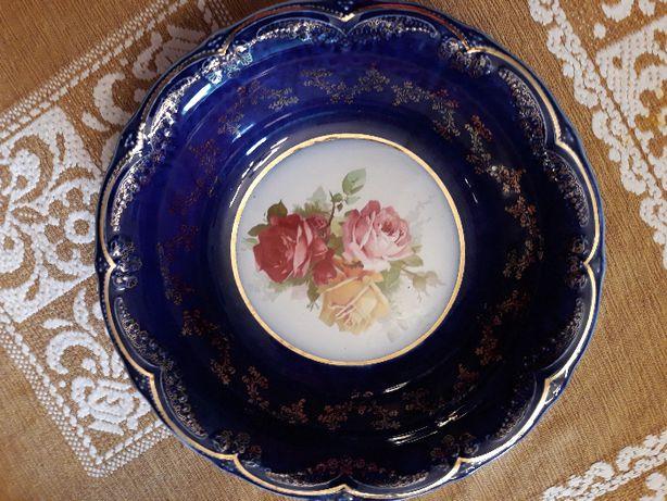 Miska stara Anglia roże kobalt