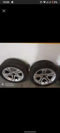 Jantes BMW 5x120 com pneus em bom estado