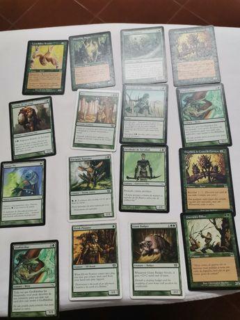 Lote cartas verdes magic the gathering