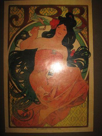 Alfons Mucha plakat , JOB Paris