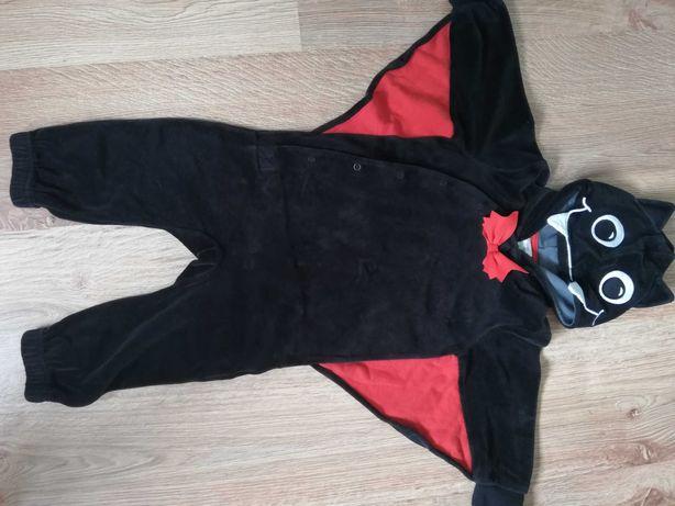 Strój nietoperz na bal przebierańców, kostium na halloween Rozm 80