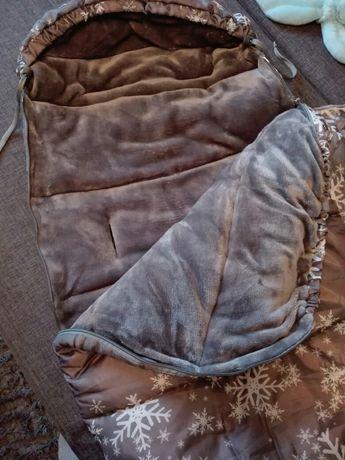 Śpiworek do wózka, sanek, gondoli, 4w1 ciepły