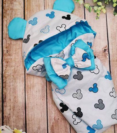 Конверт одеяльце с ушками для новорождённого