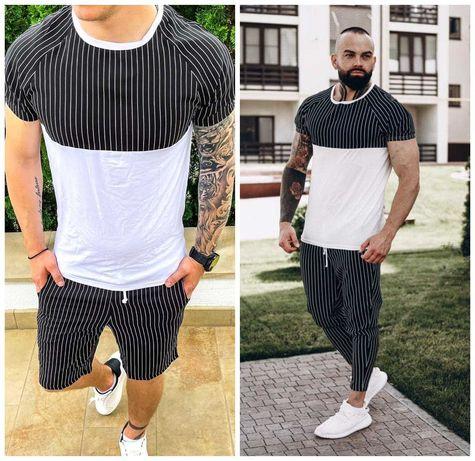 Мужской костюм ASOS футболка и штаны/ футболка и шорты