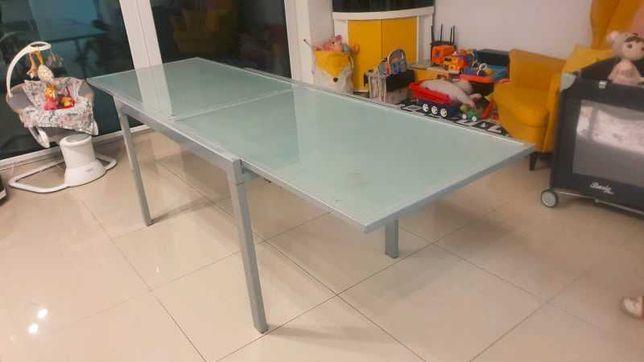 stół szklany rozkładany 80x120/240 hartowane szkło