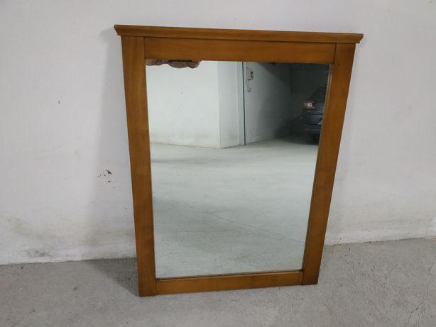 Espelho de cómoda ou quarto com aro em madeira 90 x 70
