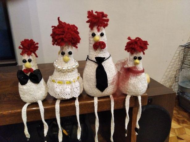 Ozdoby świąteczne kury wielkanocne kurczaki Ręcznie robione kurki