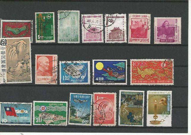18 Selos usados diferentes da FORMOSA / CHINA
