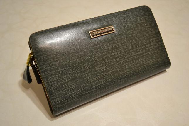 Мужской клатч кошелёк. Натуральная кожа 100%. В коробке !!!