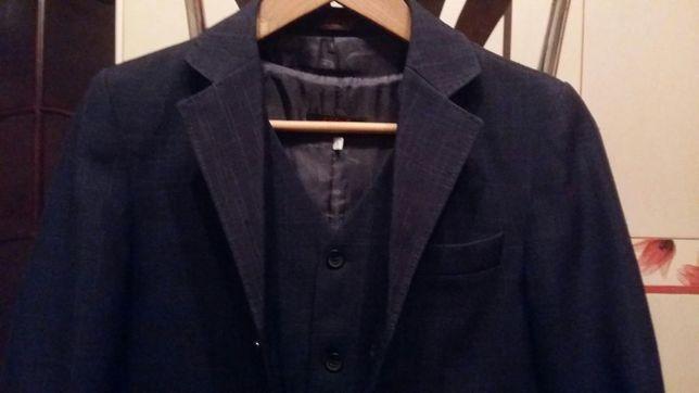 Школьная форма, костюм 3-ка, темносиний, р 36