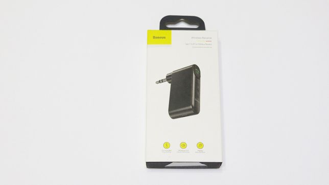 Bluetooth 5.0 адаптер Baseus для авто Hands Free AUX с аккумулятором