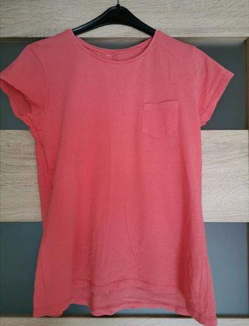 Koralowy t-shirt
