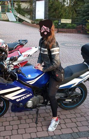 Strój motocyklowy damski skóra S/36 SUOMY