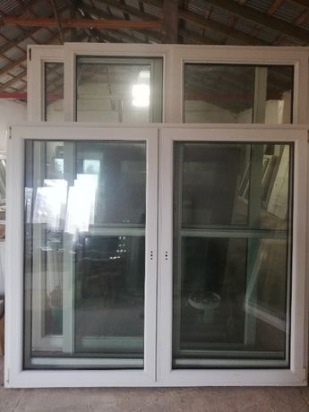 Okno 200 x 176 cm. Okna Używane, Nowe - Skład, Łódź / Tuszyn