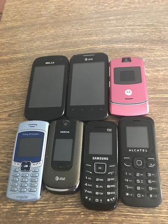 Лот з 7-и телефонів