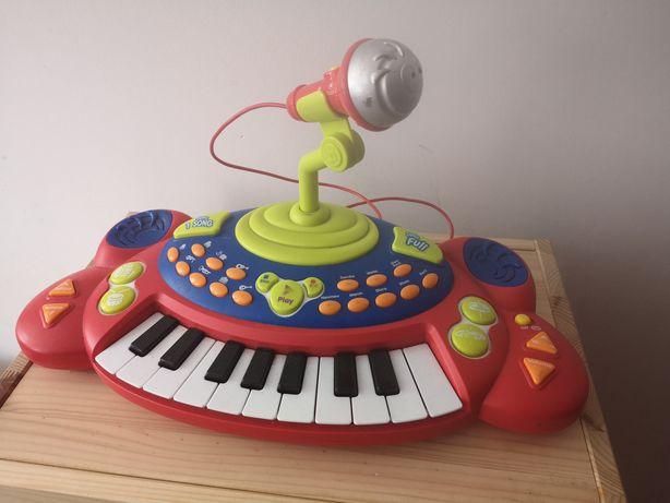 Pianinko dziecięce z mikrofonem