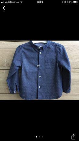 Джинсовая рубашка для маленького модника