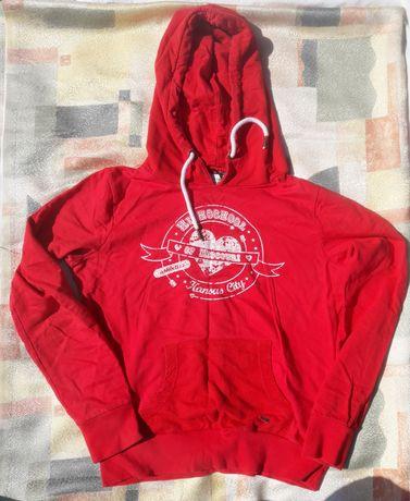 Bluza kangurka z karpurem Reserved czerwona L