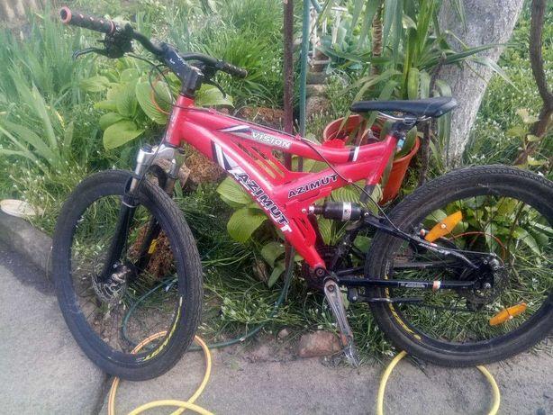 Велосипед AZIMUT Спорт(Новые тросики, Непробиваемые Покрышки)*СКИДКА*