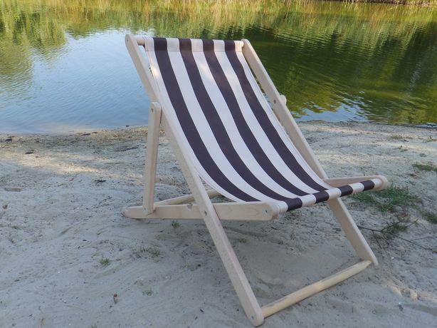 Шезлонг из бука деревянный раскладной, кресло лежак для отдыха пляжа