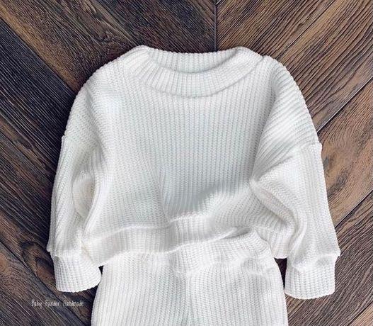 Sweter damski Baby Powder Handmade ecru rozmiar S/M