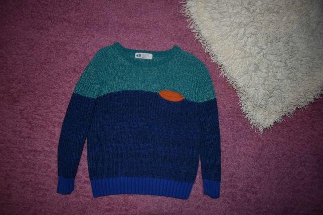 Вязаный свитер h&m рост 98-104