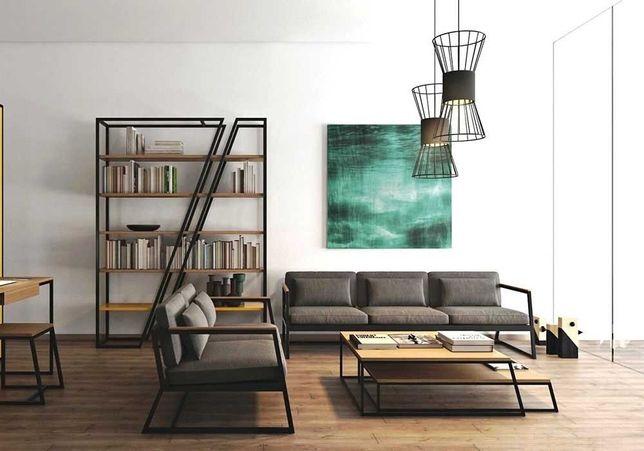 Офисные столы лофт, мебель в офис, стол, стул, стеллаж, этажерка loft