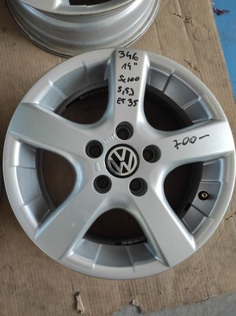 346 Felgi aluminiowe VOLKSWAGEN 5x100 R14 GOLF IV