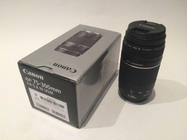 Canon EF 75-300mm f/4-5.6 III USM com caixa e garantia