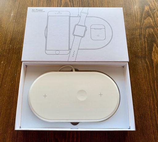 Беспроводная зарядка Airpower 3 в 1 QI для iPhone Samsung AirPods