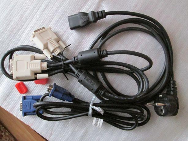Кабеля DVI, VGA, HDMI для подключения монитора к в/картам и в сеть.