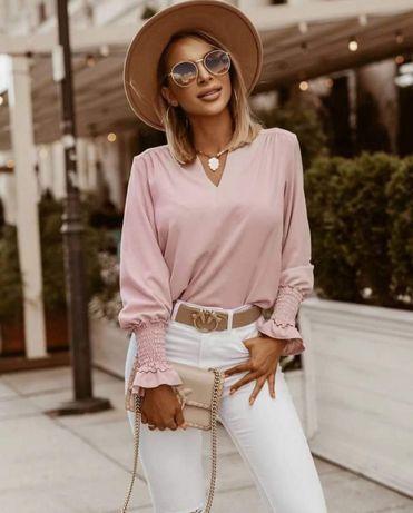 Блуза блузка сорочка рубашка пудра світло-рожева