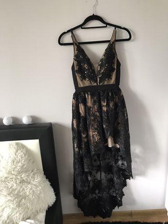 Czarno Koronkowa Sukienka