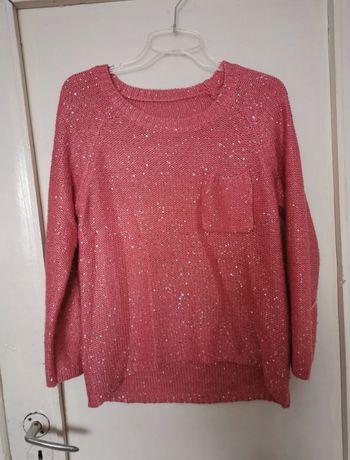 Różowy sweter 36
