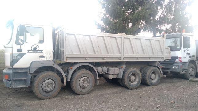 Uslugi transportowe 8x4,8x6,6x4 transport wywrotka kamień piasek