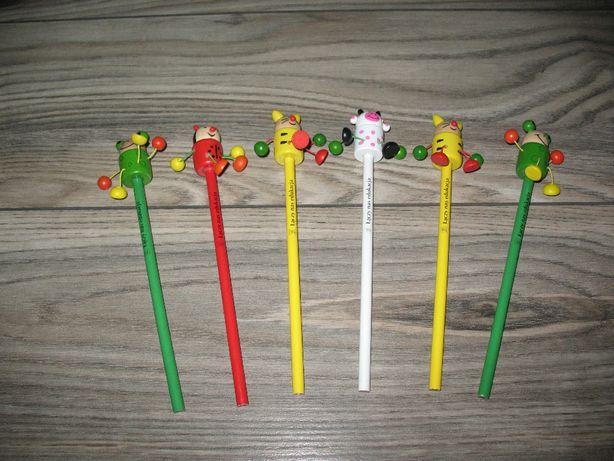 Ołówek ze zwierzątkiem 6 szt. zestaw