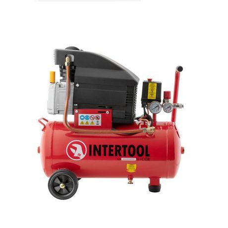 Компрессор 24 л. 206 л/мин 1.5 кВт, 220 В, 8 атм, intertool PT-0010