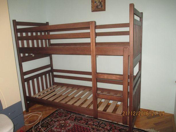 Двоярусне ліжко букове. Знижка на матрац