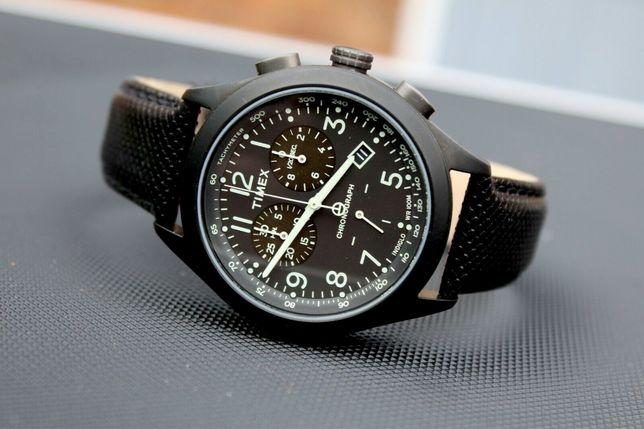 Relógio Timex T-Series Racing Cronografo Resistente Água 100M Pele Lux