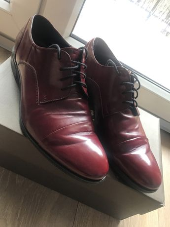 Buty pantofle bordowe rozm 40(pasuja na41,5)