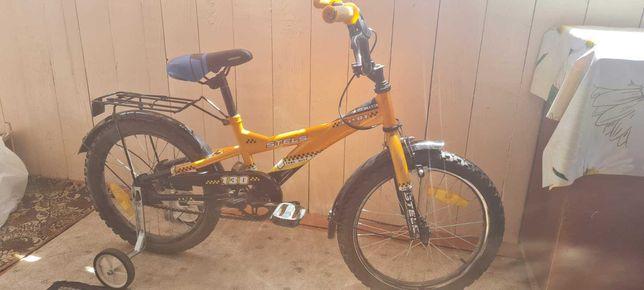 Велосипед детский 18,  STELS 130. Хорошее состояние. Доп. колеса.